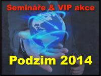 Semináře a VIP akce Podzim 2014